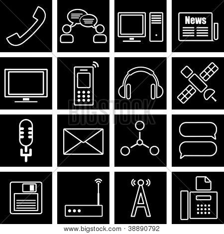 Vector illustration on the theme of information
