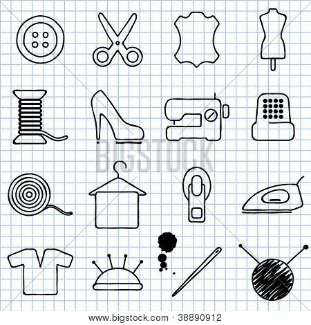 Vector images on the sewing