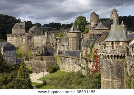 Castle of Fougeres in Brittany, north of France
