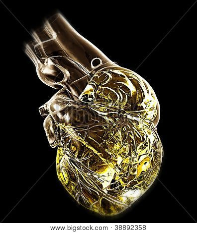 Model of artificial human heart