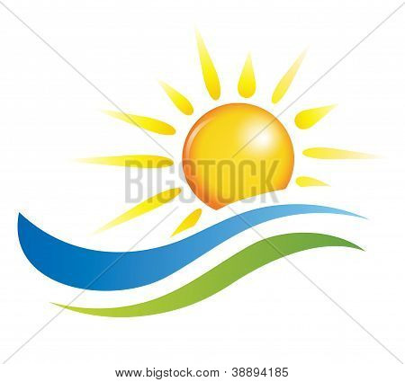 Sun and water waves