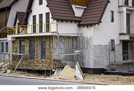 Villa construction site