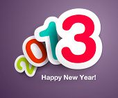 New Year`s celebration card design with floating numbers- ideal for designs for kids, and other happ