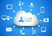 stock photo of workstation  - Cloud Computing concept background with a lot of icons - JPG