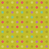 Polka-dot background, seamless pattern included