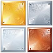 Shine Metallic Signs. Clean Golden, Silver, Platinum and Copper Plates.