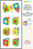 image of prism  - Mental gym visual math puzzle  - JPG
