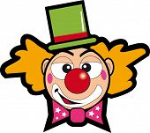 clown face. A clown face for a sticker.