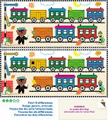 image of railroad car  - Toy train visual puzzle - JPG
