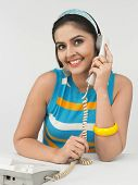 Woman Of Indian Origin Speaking In The Phone