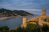Постер, плакат: Вила Велья крепость в Тосса де Мар Испания