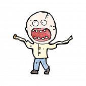 stock photo of straight jacket  - cartoon insane man in straight jacket - JPG