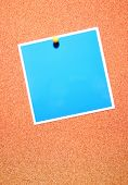 Corkboard With Note