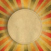 stock photo of bubble sheet  - Square Shaped Sunburst With Speech Bubble With Gradient Mesh - JPG