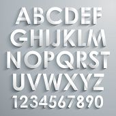 stock photo of alphabet  - Vector Alphabet Set - JPG