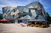 MELBOURNE, AUSTRALIA - OCTOBER 29: Iconic Federation Square celebrated 10 Years since opening on 26