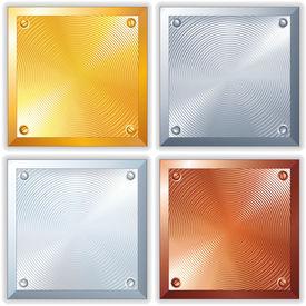 stock photo of bronze silver gold platinum  - Shine Metallic Signs - JPG