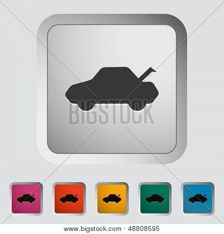 Car hood release button.