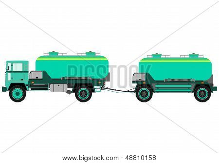 Tank Truck With Trailer