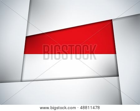 Monaco Country Flag Geometric Background