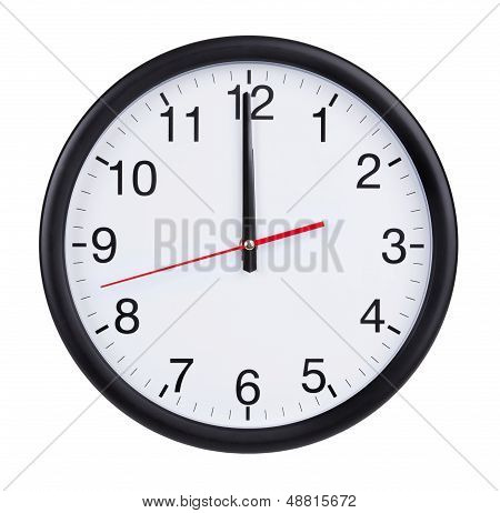 Twelve O'clock On The Dial Clock