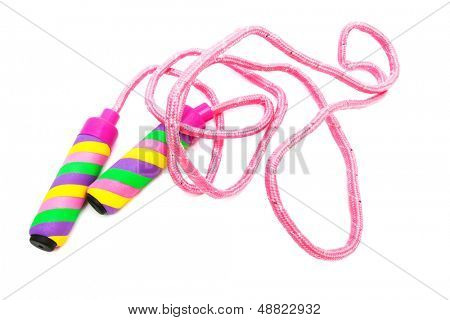 modern skipping rope on a white background