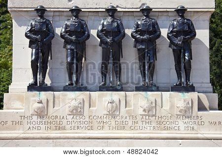 Guards Memorial At Horseguards Parade In London