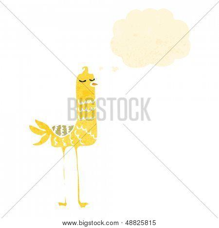retro cartoon bird