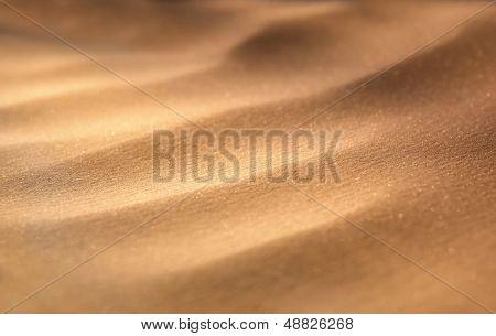 Macro view of sand dunes