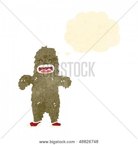 retro cartoon bigfoot