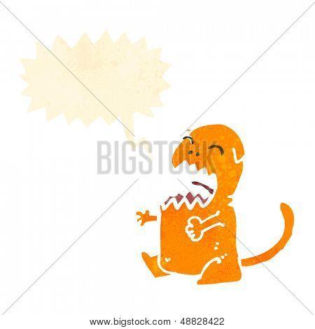 cartoon meowing cat