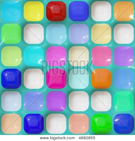 Glossy Squares Pattern