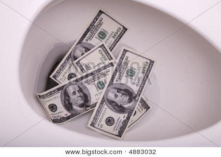 Fushing Money Down Toilet 1