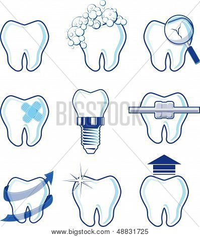 dental icons vector designs