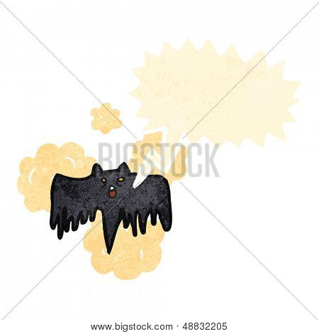 cartoon shrieking vampire bat