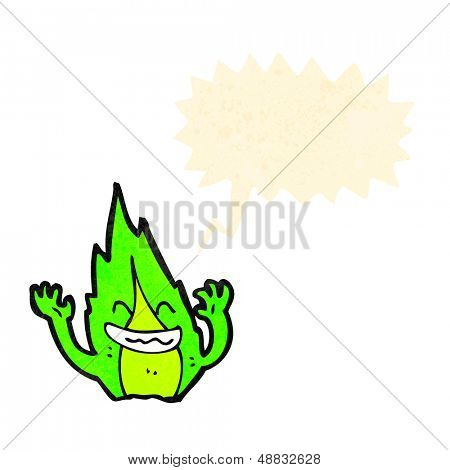 green flame sprite cartoon