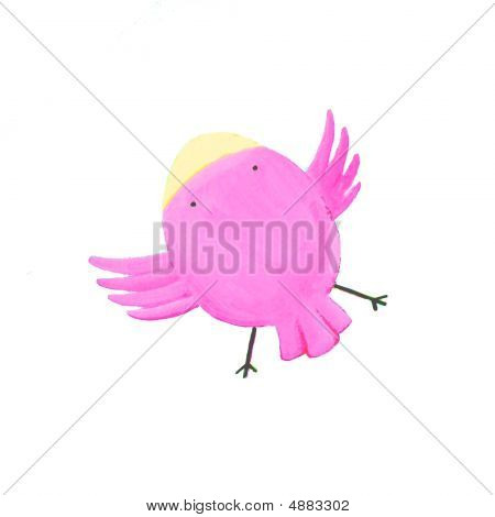 Abstract Purple Bird