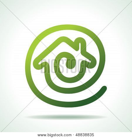green Home make a message icon