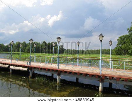 Jetty On Lake Valdai