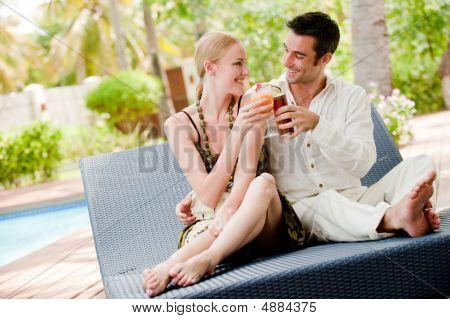 Couple Having Drinks