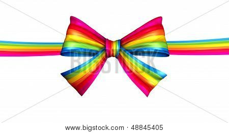 Arco de la cinta del arco iris
