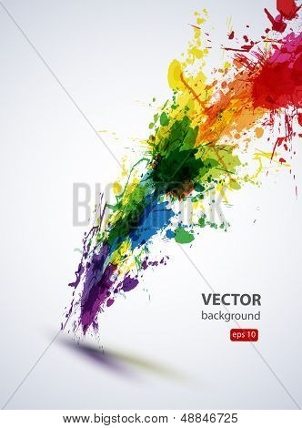 EPS10 vector ink abstract background