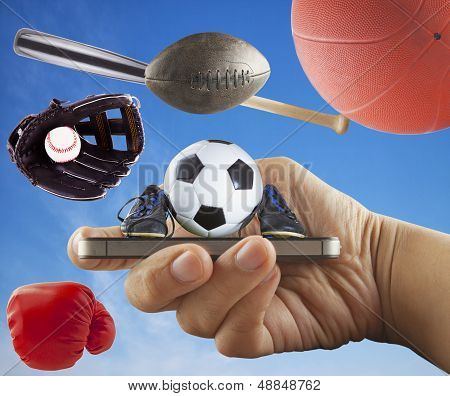 Smartphone With Sports Symbol