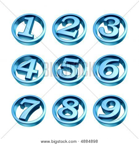 Blue Numbers Of Phone