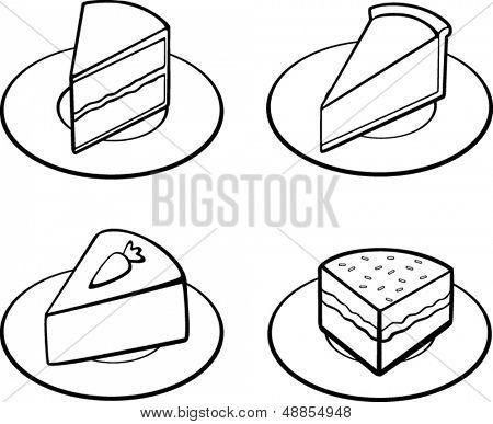 cakes illustrations set