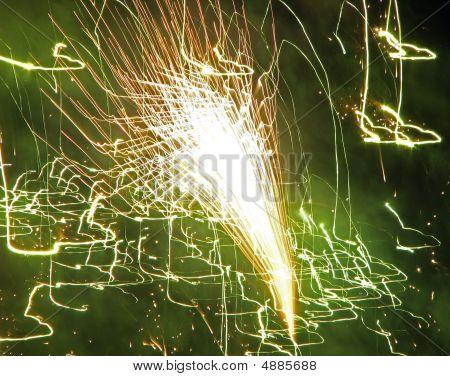 Firework Texture Arrow Green