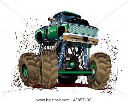Cartoon Monster Truck