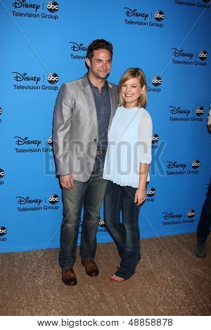 LOS ANGELES - AUG 4:  Brandon Barash, Kirsten Storms arrives at the ABC Summer 2013 TCA Party at the Beverly Hilton Hotel on August 4, 2013 in Beverly Hills, CA