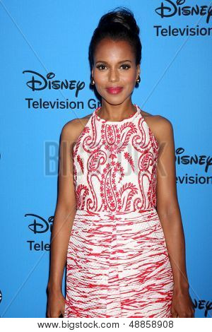 LOS ANGELES - AUG 4:  Kerry Washington arrives at the ABC Summer 2013 TCA Party at the Beverly Hilton Hotel on August 4, 2013 in Beverly Hills, CA