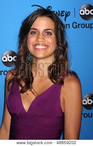 LOS ANGELES - AUG 4:  Natalie Morales arrives at the ABC Summer 2013 TCA Party at the Beverly Hilton Hotel on August 4, 2013 in Beverly Hills, CA